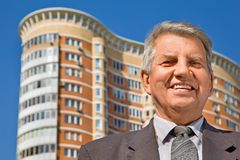 Senior man at the building Stock Images