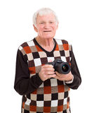 Senior man camera Stock Photos