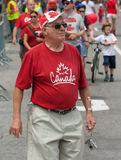 Senior Man on Canada Day Stock Images