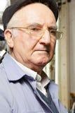 Senior man in cap and eyeglasses Royalty Free Stock Images