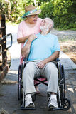 Senior Man and Caretaker Stock Photos