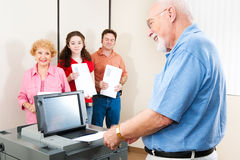 Senior Man Casting Ballot Royalty Free Stock Photos