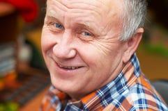 Senior man casual portrait. stock image