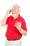 Senior Man in Cellphone Conversation Stock Image