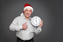 Senior man in christmas hat Royalty Free Stock Photo