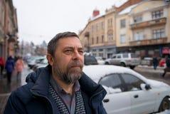Senior man in the cityscape Stock Image