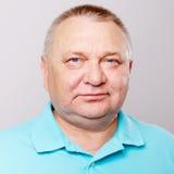 Senior man closeup over white Stock Photo