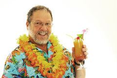 Senior man with cocktails Stock Image