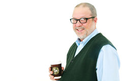 Senior man with coffee Stock Images