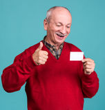Senior man with credit card Stock Image