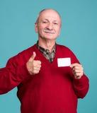 Senior man with credit card Stock Image