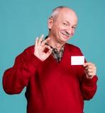 Senior man with credit card Royalty Free Stock Photo