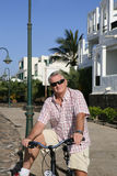 Senior Man On Cycle Ride Stock Photography