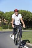 Senior Man On Cycle Ride Stock Photo