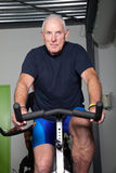 Senior man cycling Royalty Free Stock Photography