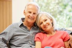 Senior man and daughter at home Royalty Free Stock Photography