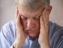Senior man depressed Stock Photography