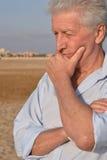 Senior man in desert Stock Image