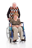 Senior man disabled wife Royalty Free Stock Photos
