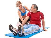 Senior man doing fitness exercise Royalty Free Stock Photo