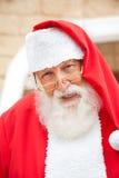 Senior Man Dressed As Santa Claus Stock Photos