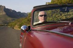 Senior Man Driving Car Stock Images