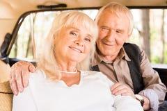senior man embracing woman royalty free stock photos