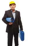 Senior man engineer Stock Photos