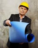 Senior man engineer royalty free stock photos