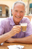 Senior Man Enjoying Coffee Royalty Free Stock Photo