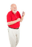 Senior Man Enjoying Tunes Royalty Free Stock Photos