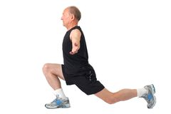 Senior man. Exercise Stock Images