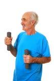 Senior man exercising Stock Photos