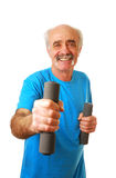Senior man exercising Royalty Free Stock Photo