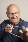 Senior man exercising royalty free stock image