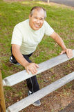 Senior man exercising Stock Photography