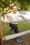 Senior man exercising Royalty Free Stock Images