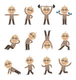 Senior man exercising, health and fitness Stock Photo