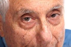 Senior man eyes. Elderly man eyes close-up. Old age people face Royalty Free Stock Photos