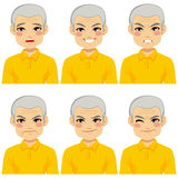 Senior Man Face Expressions Stock Photography