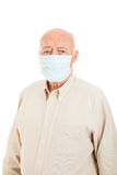 Senior Man - Flu Protection Stock Image