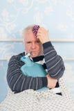 Senior man with flu Royalty Free Stock Photo