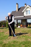 Senior man at garden Royalty Free Stock Photo