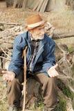 Senior man gesticulating Royalty Free Stock Photography