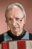 Senior man with glasses Stock Image
