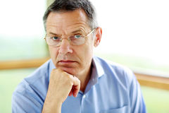 Senior man in glasses Stock Photography