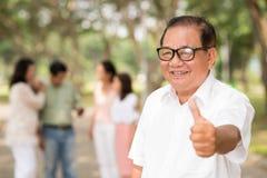 Senior man in glasses Stock Photos