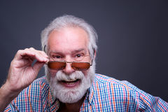 Senior man with glasses Royalty Free Stock Photography