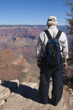 Senior man at the Grand Canyon, Arizona royalty free stock images