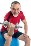 Senior man in gym Royalty Free Stock Image